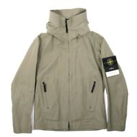 Stone Island Water Repellent Supima Cotton Hooded Jacket Sage Large