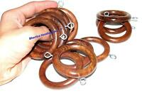 Wooden curtain rings Decorative Wood Ring with Detachable Clip Set of 12 piece