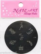 NAIL Art Stamping Kit Pack + immagine PIASTRA STAMPO con 7 disegni