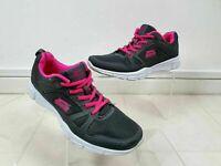 Slazenger Charcoal Grey Pink Fitness Gym Running Sports Trainers UK Size 6 EU 39