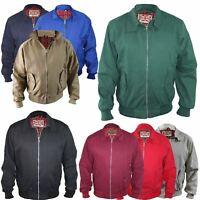 Mens Jacket Classic Bomber Harrington Elasticated Cuff Coat Front Pockets Zip Up