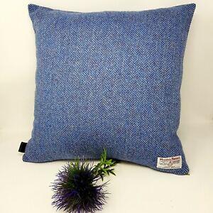 Blue Herringbone Harris Tweed Cushion Cover genuine handmade available all sizes