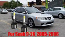 LED For Saab 9-2X 2005-2006 Headlight Kit H1 6000K White CREE Bulbs Low Beam