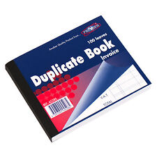 5 x 100 Leaf Invoice Duplicate Books Receipt Feint Ruled Lined A6 Numbered Pads