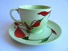 RETRO JOHNSON DUO CUP AND SAUCER GREEN CLOUD LIKE NEW