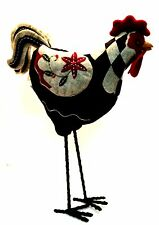Folk Art Rooster Chicken Primitive Country Decor 18 inches Tall Cracker Barrel