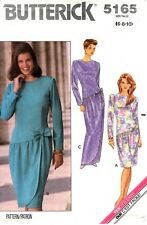 Butterick Sewing Pattern Women's LONG or SHORT DRESS 5165 Sz 6-8-10 UNCUT