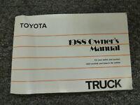 1988 Toyota Pickup Truck Owner Owner's Operator Manual User Guide SR5 Deluxe