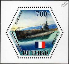 WWII AURORE (Q192) French Navy Aurore-Class Coastal Submarine Warship Stamp