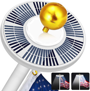 Solar Flag Pole Light 128 LED, 640 Lumens Solar Powered Flagpole Lights for Most