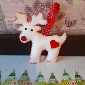 Handmade felt Christmas tree decorations