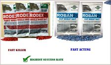 Rat mouse Poison  Max Strength Rodex 25 Whole Wheat or  Roban25 cut wheat bait