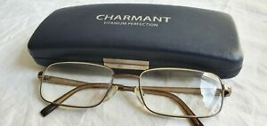 Charmant Titanium Oversized Eyeglasses Frame with Case.Very Lightweight. CH10715