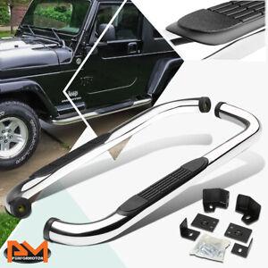 "For 87-06 Jeep Wrangler TJ/TJU/LJ SUV 3"" Side Step Nerf Bar Running Board Chrome"