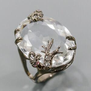 Vintage SET Quartz Ring Silver 925 Sterling  Size 8.75 /R178725