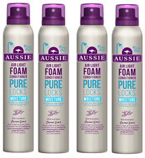 4x Aussie PURE LOCKS Air Light Foam MOISTURE Conditioner 180ml