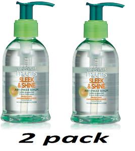 2 x Garnier Fructis Sleek &Shine Anti-Frizz Serum, Frizzy, Dry,Unmanageable Hair