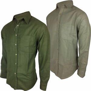 Regents View Men Heavyweight 100% Cotton Moleskin Shirt