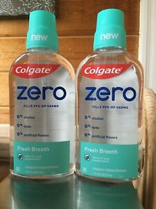 2 - Colgate Zero Fresh Breath Mouthwash 17.4oz Each  Exp 1/2022 Ship Free