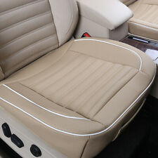 1Pc PU Leather Car Seats Protector Mat Seat Cover Pad Breathable Cushion Beige