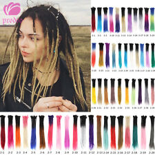 "30pcs 24"" Synthetic Dreadlocks Extensions Crochet Braid Hair Dreads Ombre Color"