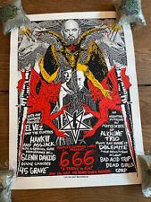 Danzig Rare Original 666 Poster 06/06/2006 Print Mafia Signed & Numbered 52/125