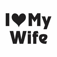 I Love My Wife - Vinyl Decal Sticker - Multiple Color & Sizes - ebn1197