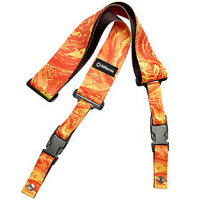 "DiMarzio DD2245 Steve Vai ClipLock Quick Release Guitar Strap 2"" Orange Universe"