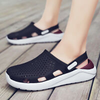 Mens Closed toe Outdoor Summer Beach Slippers Shoes Slingback Non-slip Sandals