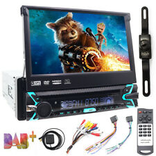 "7""Single 1DIN Car CD DVD Player GPS Navigation BT HD Touch Stereo Radio AUX +CAM"