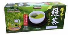 Kirkland Green Tea 100% Japanese Green Tea Sencha & Matcha Tea Bag New