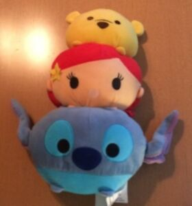 Disney Northwest Tsum Tsum Plush Pillow Winnie the Pooh, Lilo & Stitch, Ariel