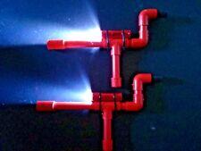 Red Mini Marshmallow PVC Blow Guns Shooters Set 0f 2 w/ LED Flashlights