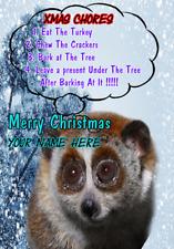 Lento Loris nnc120 humorístico tarjeta de Navidad Navidad A5 tarjeta de saludos Personalizados