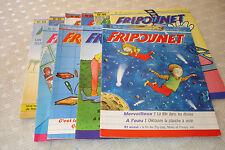 Lot  9 Journaux  'FRIPOUNET' 1986 Vide grenier Brocante