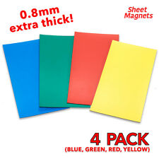 200mm x 100mm Mixed Coloured Magnetic Labels 0.8mm | 4 Pack | Ref.5914/3456