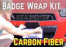 Carbon Fiber Car Emblem Wrap Kit - Chevy Camaro Black Bowtie Vinyl Badge Cruze