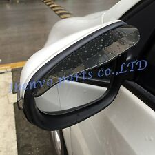 Dark Brown Rearview Side Mirror Sun Rain Board Flashing Visor Protect Guard Trim