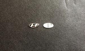 X2 Logo Stemma Fregio Chiave Telecomando Hyundai I10 I20 I30 Tucson Kona 16mm