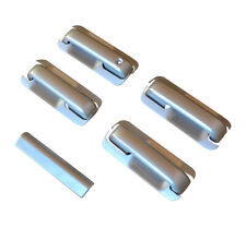 2015-2020 Ford F150 Crew Cab Painted Silver Door Handle Covers+Tailgate Cover