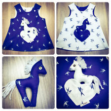 Blue 100% Cotton Dresses (2-16 Years) for Girls