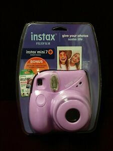 Fujifilm Instax Mini 7S Instant Camera with Pack of 10 Film Sheets Lavender