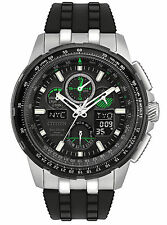 New Citizen Eco-Drive Skyhawk Chrono AT Rubber Strap Men's Watch JY8051-08E
