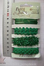 GREEN Sparkle GLITZ Trim Packs 4 Asst Styles 90cm Ea CHRISTMAS Colours Petaloo