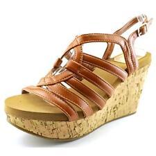 Sandalias y chanclas de mujer marrón sintético, talla 40