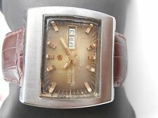 RARE VINTAGE SS SWISS TITONI SPACESTAR TV DIAL MENS AUTOMATIC WRISTWATCH