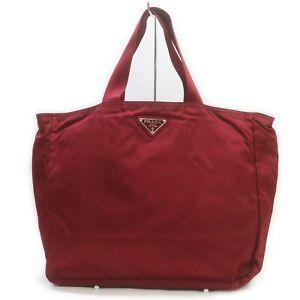 Prada Tote Bag  Reds Nylon 2200026