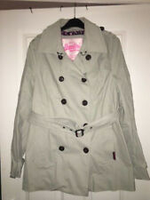 Superdry Ladies Beige Trench Coat Jacket size Large NEW RRP £99