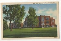 State Teachers' College SUPERIOR WI - Vintage Wisconsin Linen Postcard