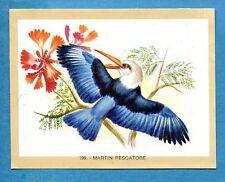 NATURAMA - Lampo 1968 - Figurina-Sticker n. 199 - MARTIN PESCATORE -Rec